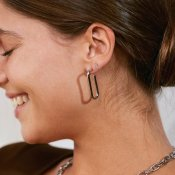 Trellis Earrings L Steel