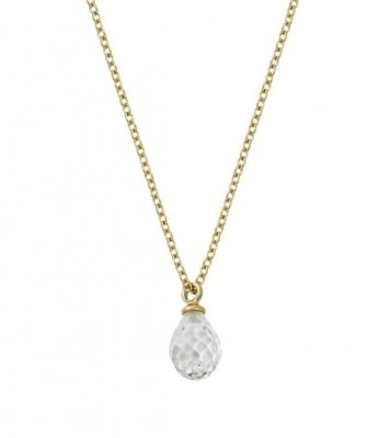 Edblad Drop Mini Necklace cz Gold